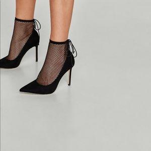 Zara high heels with mesh size 6 nwt